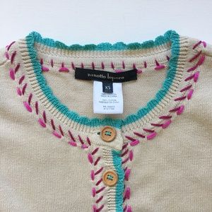Nanette Lepore Embroidered Cropped Cardigan